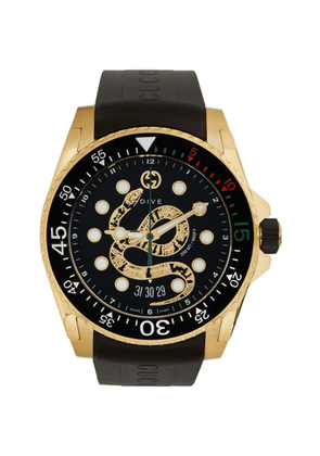 Gucci Gold Dive Snake Watch