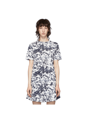 Erdem White and Navy Hettle T-Shirt