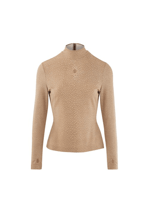 Rollneck top in stretch jersey