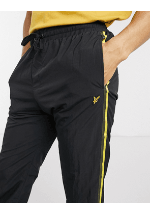 Lyle & Scott taped trackpants-Black