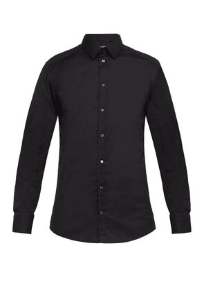Dolce & Gabbana - Gold Fit Cotton-blend Poplin Shirt - Mens - Black