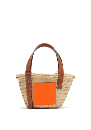 Loewe Paula's Ibiza - Raffia Small Basket Bag - Womens - Beige Multi