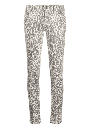 7 For All Mankind leopard print skinny jeans - Grey