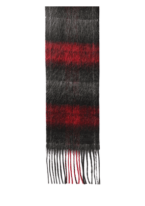 Logo Check Wool & Mohair Scarf