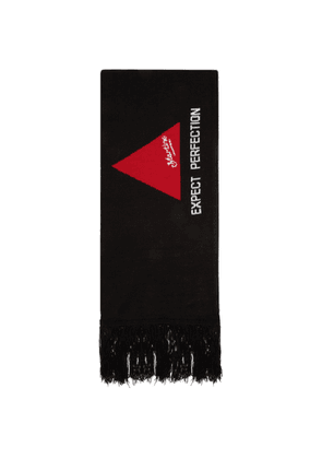 Martine Rose SSENSE Exclusive Green and Black Football Scarf