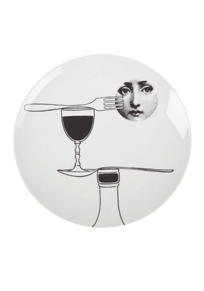 Fornasetti printed plate - White