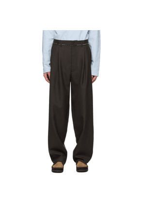 Camiel Fortgens Brown Wool Suit Trousers