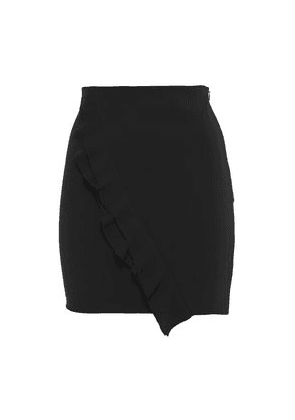 Iro Jipy Ruffled Stretch-crepe Mini Skirt Woman Black Size 40