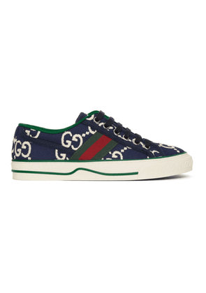 Gucci Navy GG 1977 Tennis Sneakers