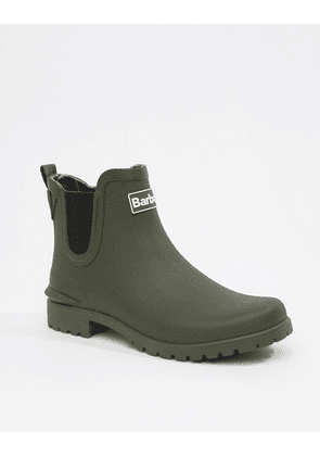 Barbour Chelsea welly boot with logo detail-Green