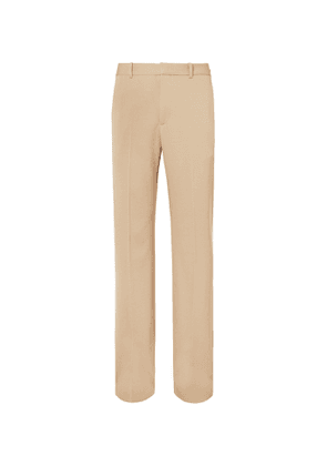 Balenciaga - Wide-Leg Virgin Wool-Twill Trousers - Men - Neutrals