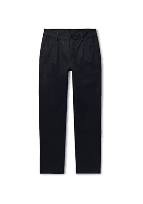 Bellerose - Midnight-blue Pleated Cotton-twill Trousers - Blue