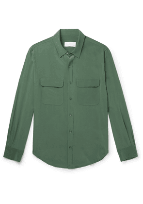 EQUIPMENT - The Original Slim-Fit Silk Shirt - Men - Green