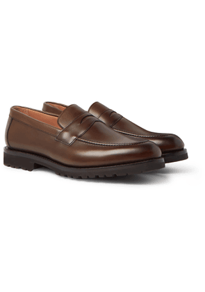 Cheaney - Hadley Burnished-leather Penny Loafers - Brown