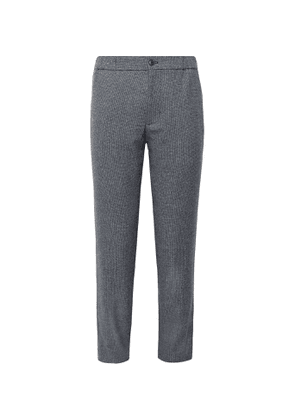 Club Monaco - Lex Tapered Donegal Tweed Trousers - Men - Gray