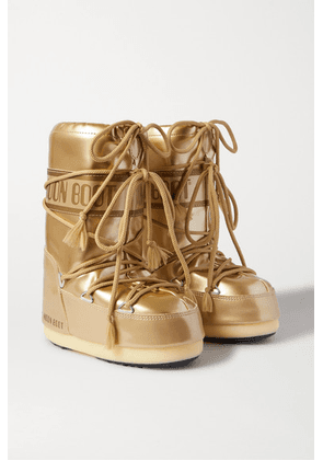 Moon Boot Kids - Ages 20 Months - 10 Years Metallic Faux Leather Snow Boots
