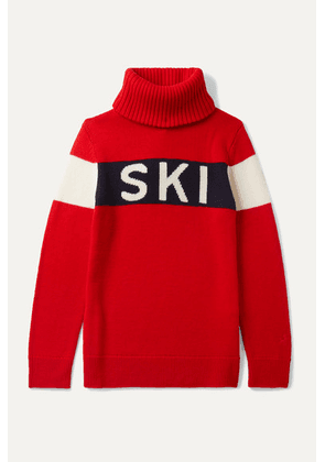 Perfect Moment Kids - Ages 6 - 12 Ski Intarsia Merino Wool Turtleneck Sweater