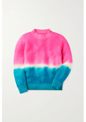 The Elder Statesman Kids - Tie-dyed Cashmere Sweater - Pink