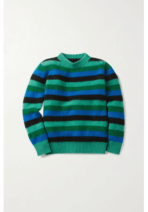 The Elder Statesman Kids - Striped Cashmere Sweater - Blue