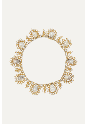 Buccellati - 18-karat Yellow And White Gold, Pearl And Diamond Necklace - one size