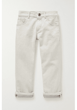 Brunello Cucinelli Kids - Ages 4 - 6 Bead-embellished Jeans