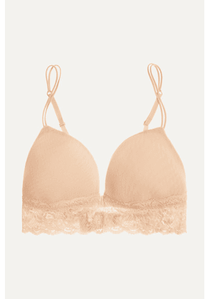 Cosabella - Never Say Never Soire Lace-trimmed Mesh Soft-cup Bra - Neutral