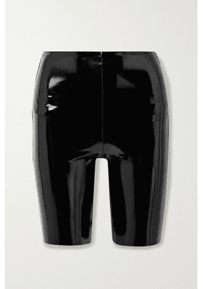 Commando - Stretch Faux Patent-leather Shorts - Black