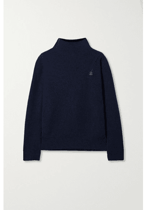 Akris - Ribbed Cashmere Turtleneck Sweater - Navy
