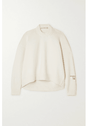 Alexander Wang - Embroidered Wool-blend Sweater - Ivory