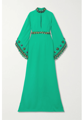 Andrew Gn - Embellished Crepe Gown - Green