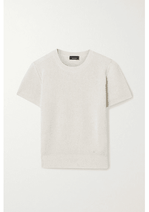Akris - Ribbed Cashmere And Silk-blend Sweater - Cream
