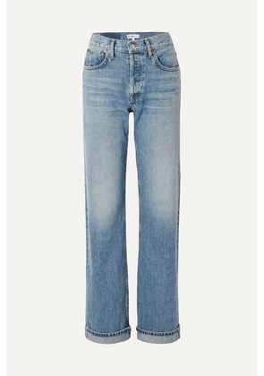 RE/DONE - '90s Relaxed Long High-rise Straight-leg Jeans - Mid denim