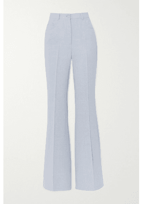 Akris - Farid Linen And Wool-blend Flared Pants - Blue