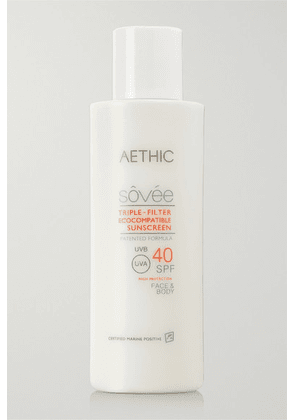 Aethic - Triple-filter Ecocompatible Sunscreen Spf40, 150ml - one size