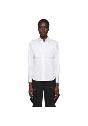 Comme des Garcons White Breast Seam Detail Shirt