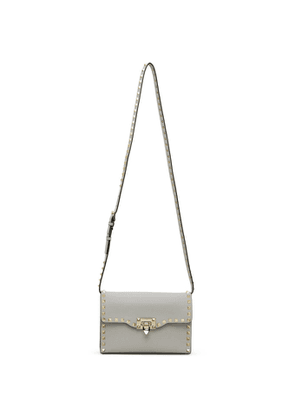 Valentino Grey Valentino Garavani Small Rockstud Shoulder Bag