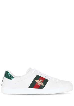 New Ace Bee Web Leather Sneakers