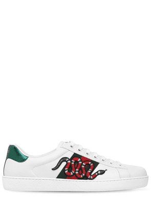 Snake New Ace Leather Sneakers