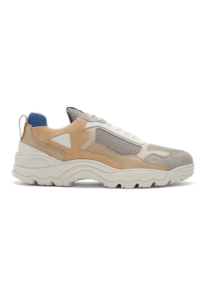 Filling Pieces Beige and Grey Low Curve Trimix Sneakers