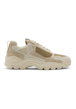 Filling Pieces White and Beige Low Curve Iceman Sneakers