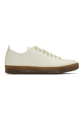 Feit White Hand-Sewn Latex Low Sneakers