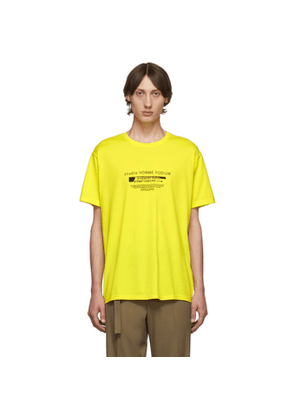Givenchy Yellow Homme Podium T-Shirt