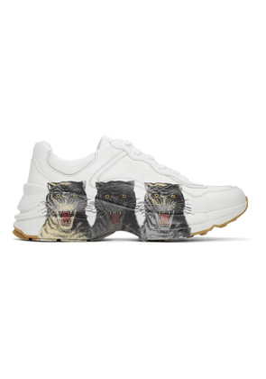Gucci White Rhyton Sneakers