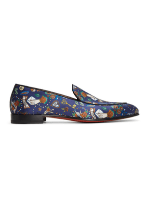 Christian Louboutin Blue Style On The Nile Tattoo Loafers