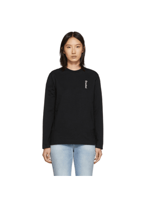 Etudes Black Wonder Logo Long Sleeve T-Shirt