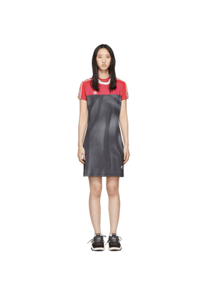 adidas Originals by Alexander Wang Pink and Black Photocopy Dress