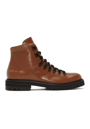 Common Projects Tan Leather Hiking Boots