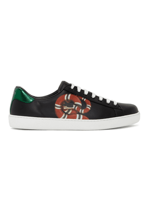 Gucci Black Snake New Ace Sneakers
