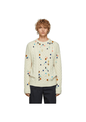 Loewe Off-White Stone Cable Sweater