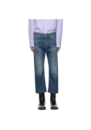 Balenciaga Blue Authentic Cropped Jeans